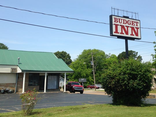 The Budget Inn in Milan, where police found Christopher Grant Eskew injured. Eskew later died at a local hospital.