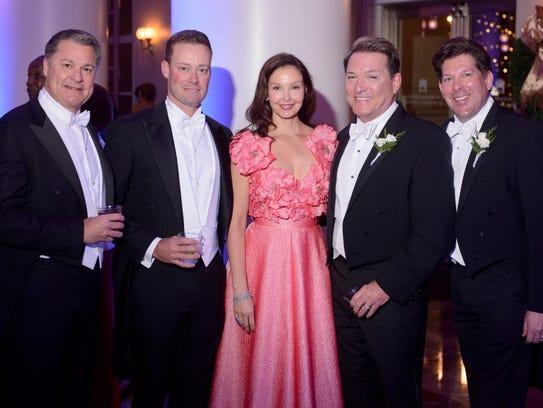 From left, Lance Gruner, Shawn Wilson, Ashley Judd,