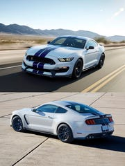 The 2016 Shelby GT350 Mustang sports a 500 hp normally aspirated 5.2-liter V8.