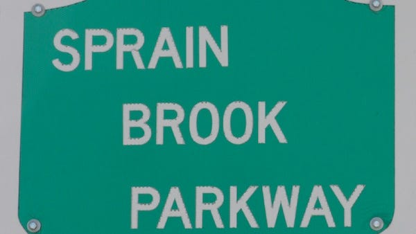 Sprain Brook Parkway road sign.