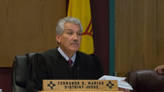 District Judge Fernando Macias, listens to remarks from Phillip Hernandez's attorney Michael Stout, before reading the sentence out, Tuesday November 22, 2016.
