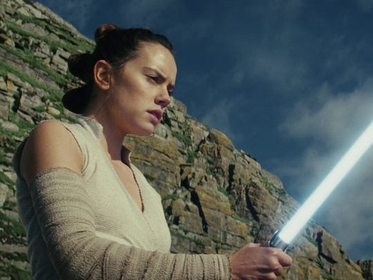 Daisy Ridley as Rey in 'Star Wars: The Last Jedi.'