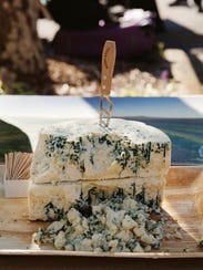 Blue Cheese among cheeses being sampled at The Cheese