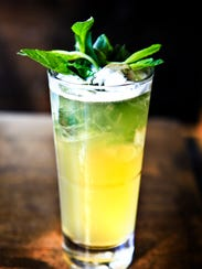 A Mint Julep Lemonade mixed by Jackie Zykan. April