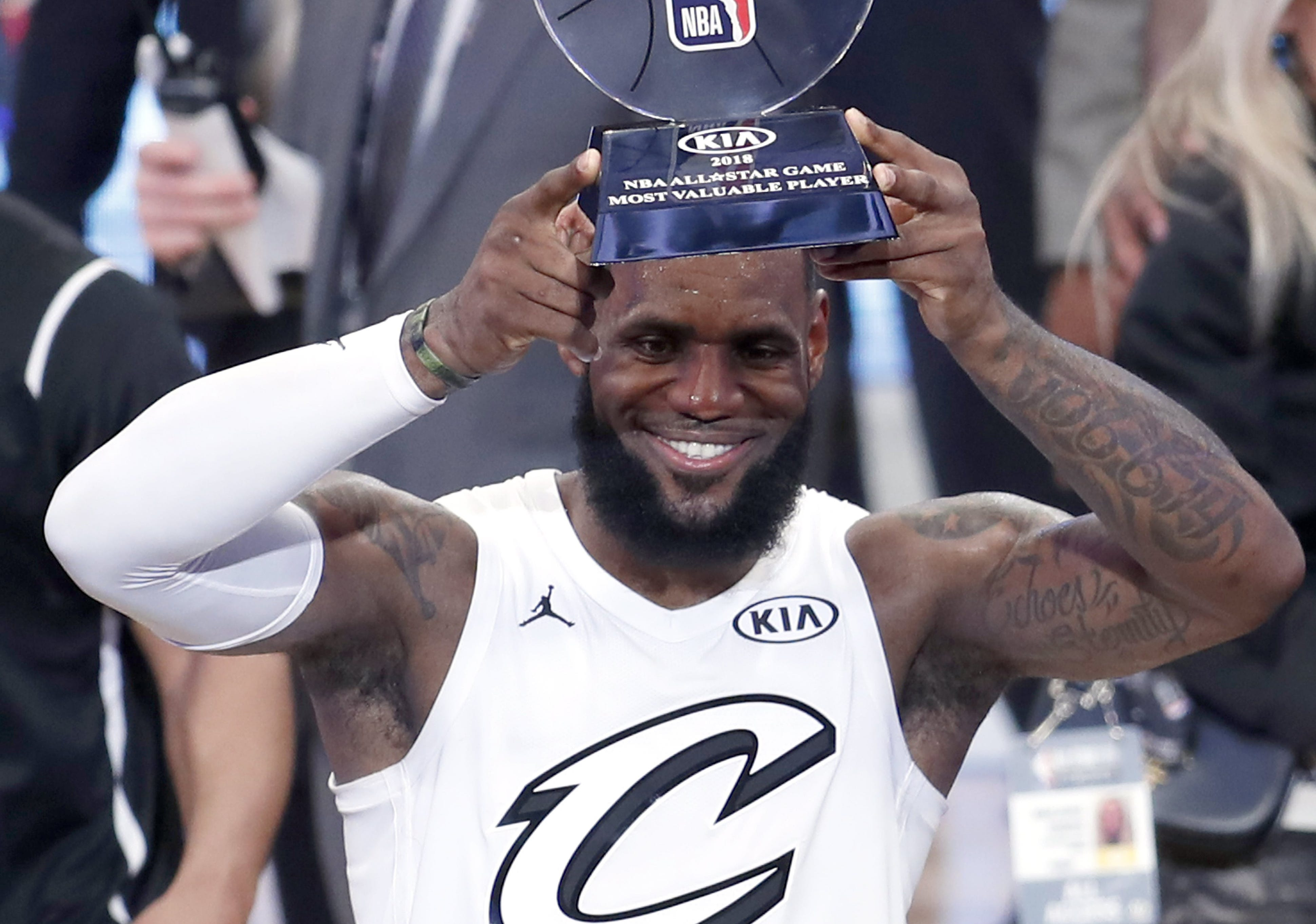 LeBron James shared 2018 All-Star MVP