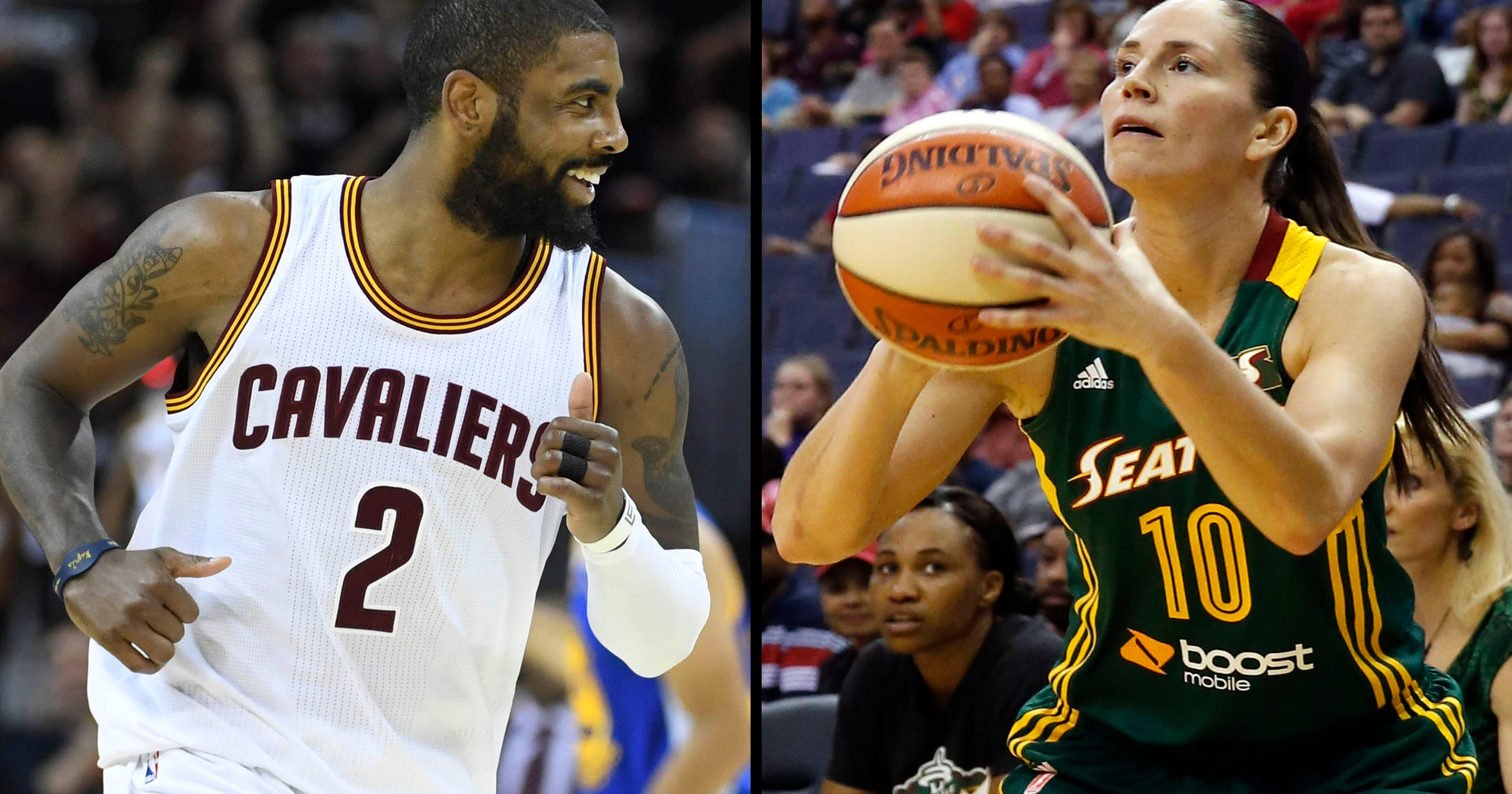 0cfb9976be7 Kyrie Irving watched WNBA friends play in Seattle
