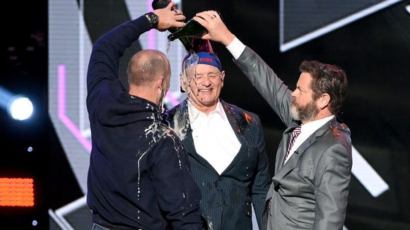 Bill Murray had a lot of fun accepting the Cubs' Best