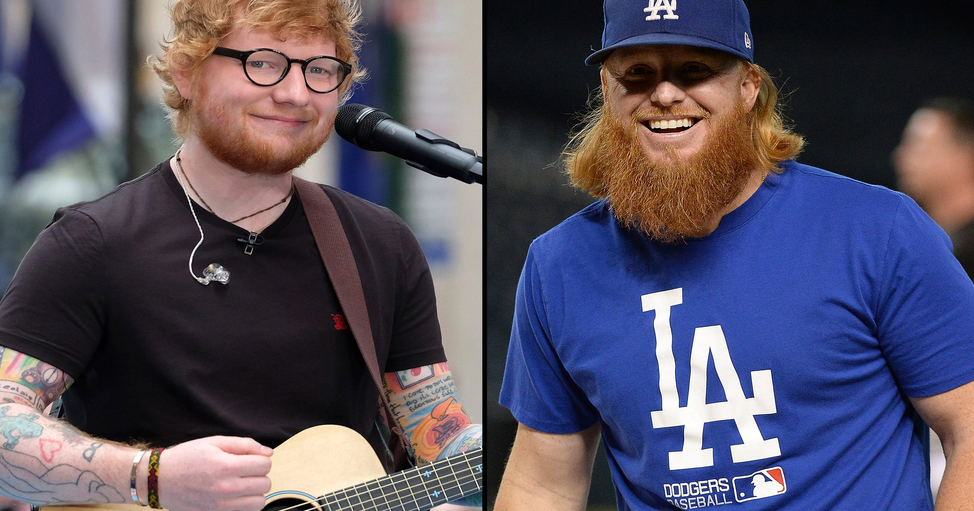 Justin Turner can t believe Ed Sheeran wore his jersey 2d32613c411