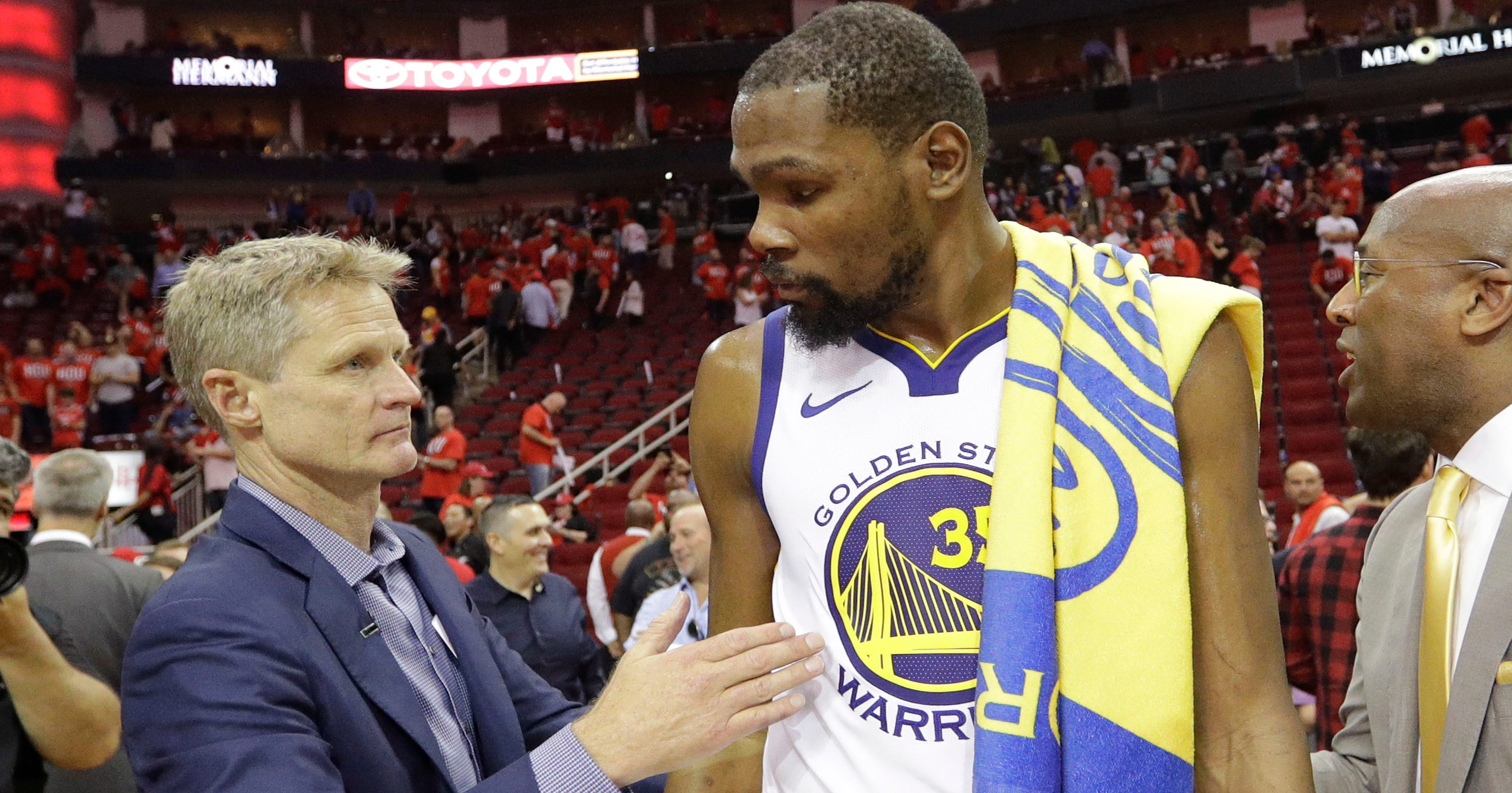 cf7a7bdb2e99 Kevin Durant says he was flattered by Steve Kerr s MJ story