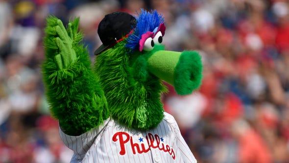 Philadelphia Phillies mascot The Phillie Phanatic in