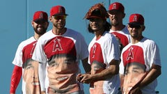 Angels players wore amazing Mike Trout shirts before game