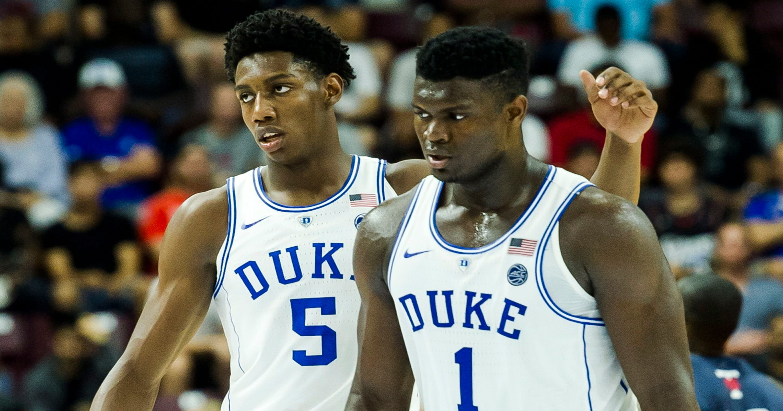 Image result for zion williamson rj barrett