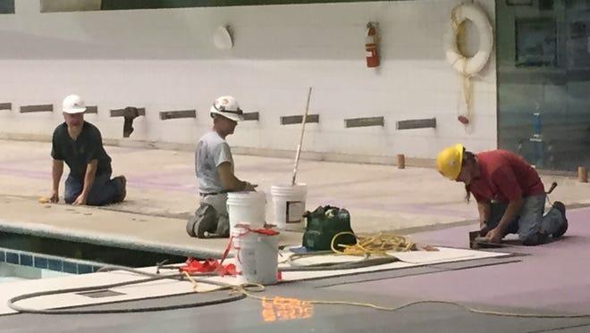 The IUPUI Natatorium is undergoing renovations