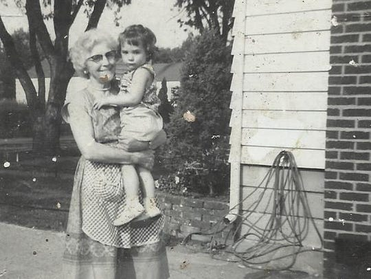 Denise Hanses with her Great Grandma Edna Neve, who