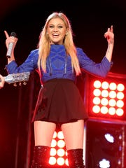 Kelsea Ballerini performs at the New Year's Eve Bash on Broadway on Thursday.