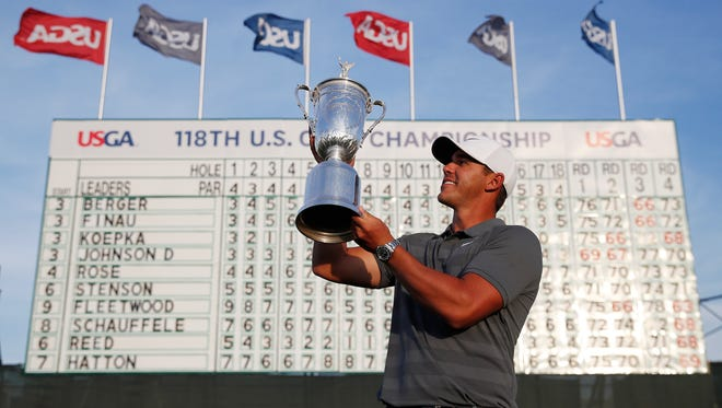 Brooks Koepka has finished in the top 15 in nine of his past 10 majors, including Sunday's win at the U.S. Open.