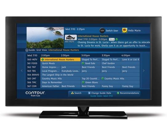 Cox Contour menu screen
