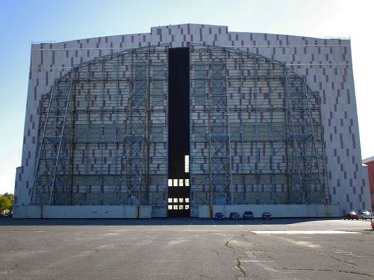 Hangar 1 at Lakehurst Naval Base.