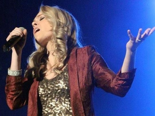 Singer and Delphi native Karli Edging, 19, performs 1 p.m. Saturday at the Indiana Bacon Festival.