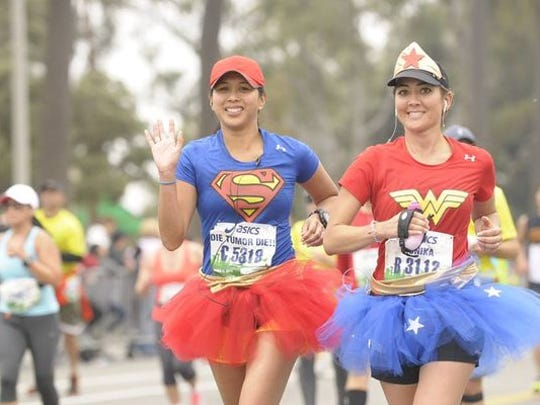 Monika Allen was wearing a tutu when she ran last year's LA Marathon — she was dressed as Wonder Woman — for her first marathon running with brain cancer. The race fell in the middle of chemotherapy and she says the outfit gave her motivation.