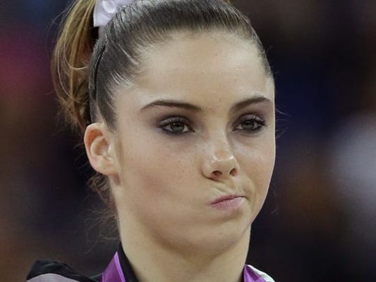 """U.S. gymnast McKayla Maroney gained Internet fame at the 2012 London Olympics for her """"not impressed"""" face on the medal stand."""