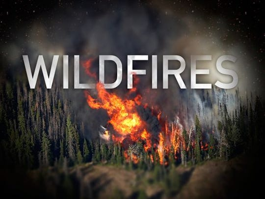 Stock photo of wildfire