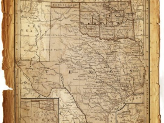 Map of texas 1884