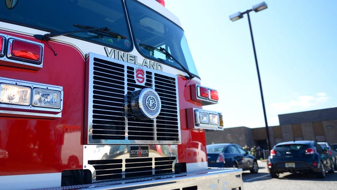 Firefighters responded to Dr. William Mennies School in Vineland after students were evacuated due to a heater mishap on Thursday afternoon.