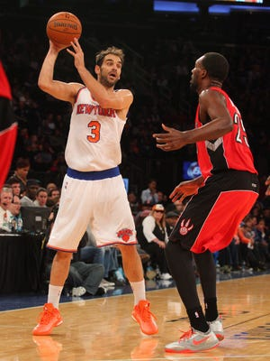 Knicks point guard Jose Calderon is injured.
