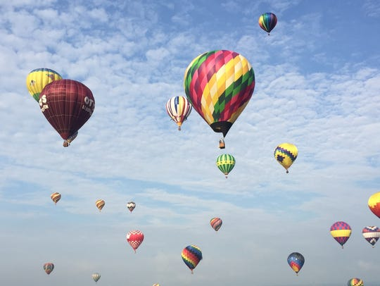 More than 100 hot-air balloons from 25 states and Canada