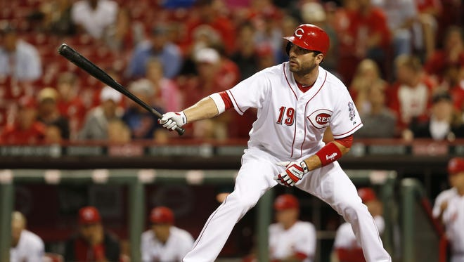 Joey Votto is reluctant to make his knee an excuse, but he isn't running at 100 percent.