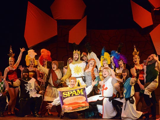 The Sioux Empire Community Theatre production of Spamalot in 2015.