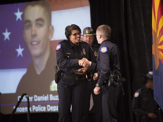 A new class of recruits is welcomed Phoenix Police