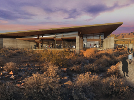 A rendering of the proposed Desert Discovery Center, now Desert EDGE, unveiled in 2017.
