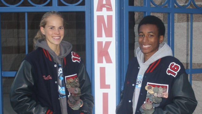 Livonia Franklin seniors Natalie Douglas and Tony Floyd earned all-state honors at Saturday's Division 1 cross country state meet.