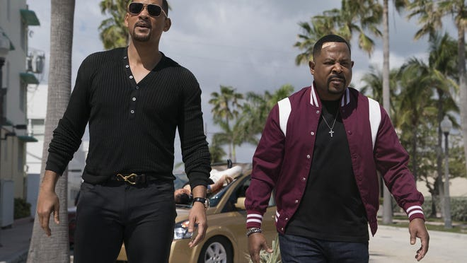 """Martin Lawrence, right, and Will Smith in a scene from """"Bad Boys for Life."""" The movie is screening Tuesday at Midway Twin Drive-In in Ravenna. ["""