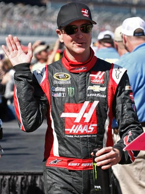 Kurt Busch's No. 41 Chevrolet is funded by Gene Haas, co-owner of Stewart-Haas Racing.