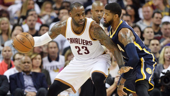 LeBron James and the Cavaliers face Paul George and the Pacers in the first round.