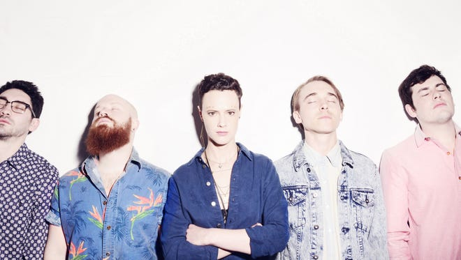 Rubblebucket, featuring University of Vermont alumni Kalmia Traver, center, and Alex Toth, second from right, perform tonight and Friday at Higher Ground.