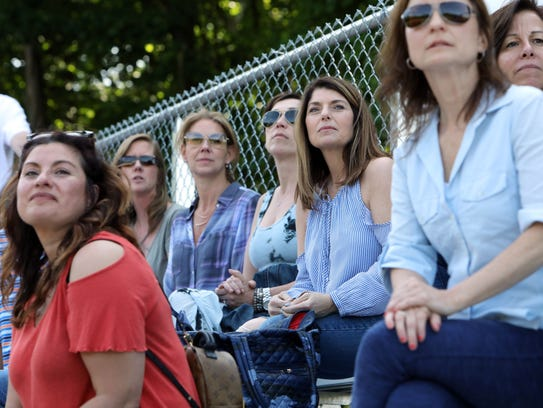 Briarcliff parents watch the semifinal baseball game
