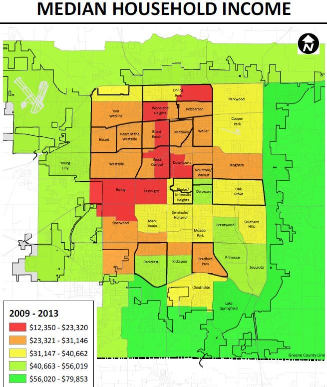 16 maps that show the crime poverty and health situation in Springfield