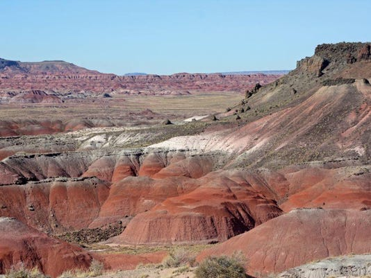 Painted Desert National Park Map, A Trail From The Painted Desert Inn Provides Access To The Badland Wilderness Below Photo National Park Service, Painted Desert National Park Map