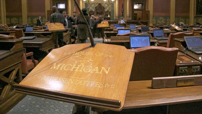 The Michigan House of Representatives at the Capitol building in Lansing.