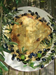 Olive and rosemary flat bread by Chef Celia Casey.