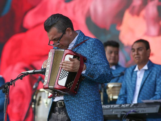 Apr 13, 2018; Indio, CA, USA;  Los Angeles Azules performs