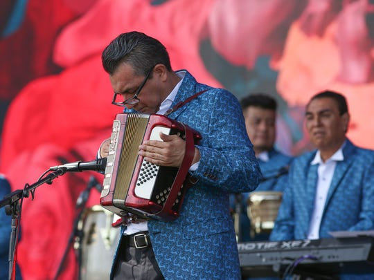 Apr 13, 2018; Indio, CA, USA;  Los Angeles Azules performs during the Coachella Valley Music and Arts Festival at Empire Polo Club. Mandatory Credit: Jay Calderon/The Desert Sun via USA TODAY NETWORK