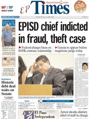 The El Paso Times front page from Wednesday, Aug. 2,