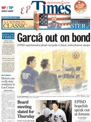 The El Paso Times' front page from Wednesday, Aug. 3, 2011.