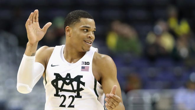 Michigan State sophomore forward Miles Bridges was named Preseason Big Ten Player of the Year and is part of the league's preseason all-conference team.