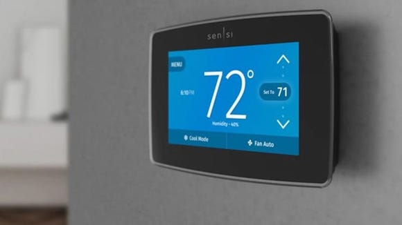 We tested the Sensi Touch with Siri, Google Assistant, and Amazon Alexa, and each one instantly updated both the app and the thermostat itself.